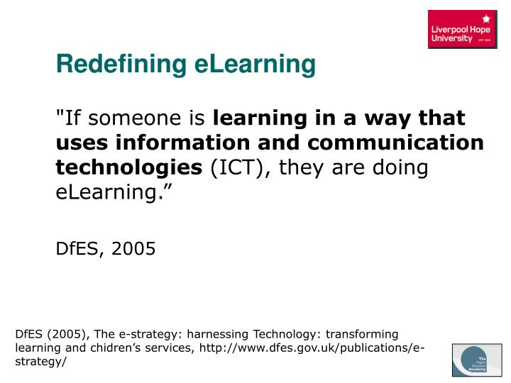 Redefining eLearning