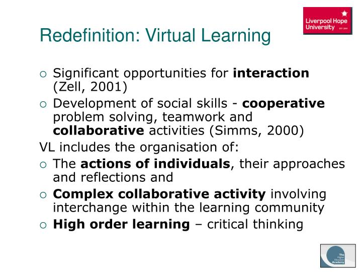 Redefinition: Virtual Learning