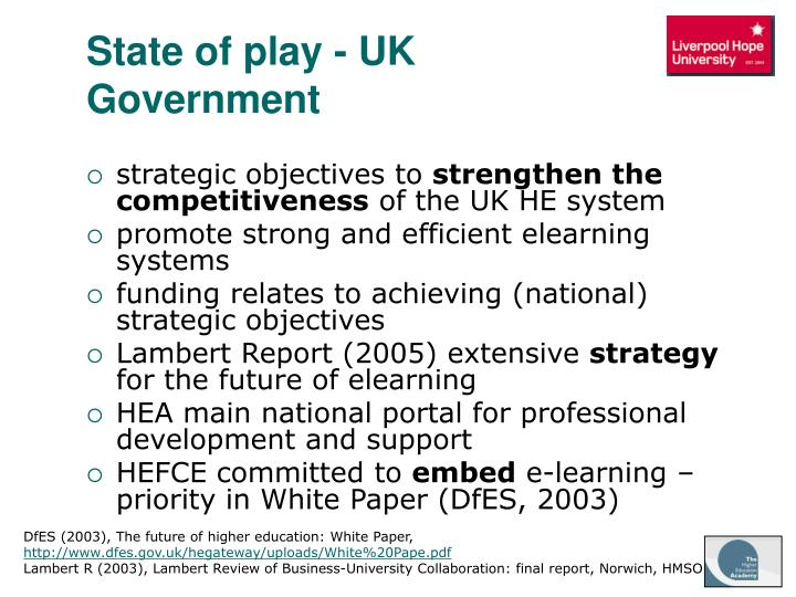 State of play - UK Government