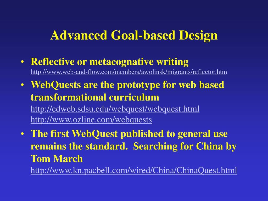 Advanced Goal-based Design