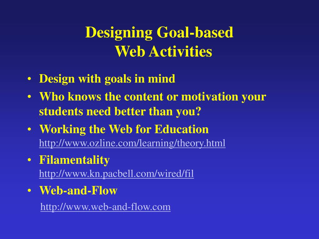 Designing Goal-based