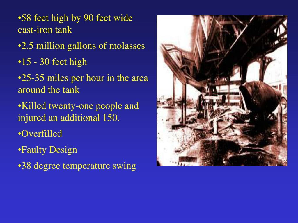 58 feet high by 90 feet wide cast-iron tank