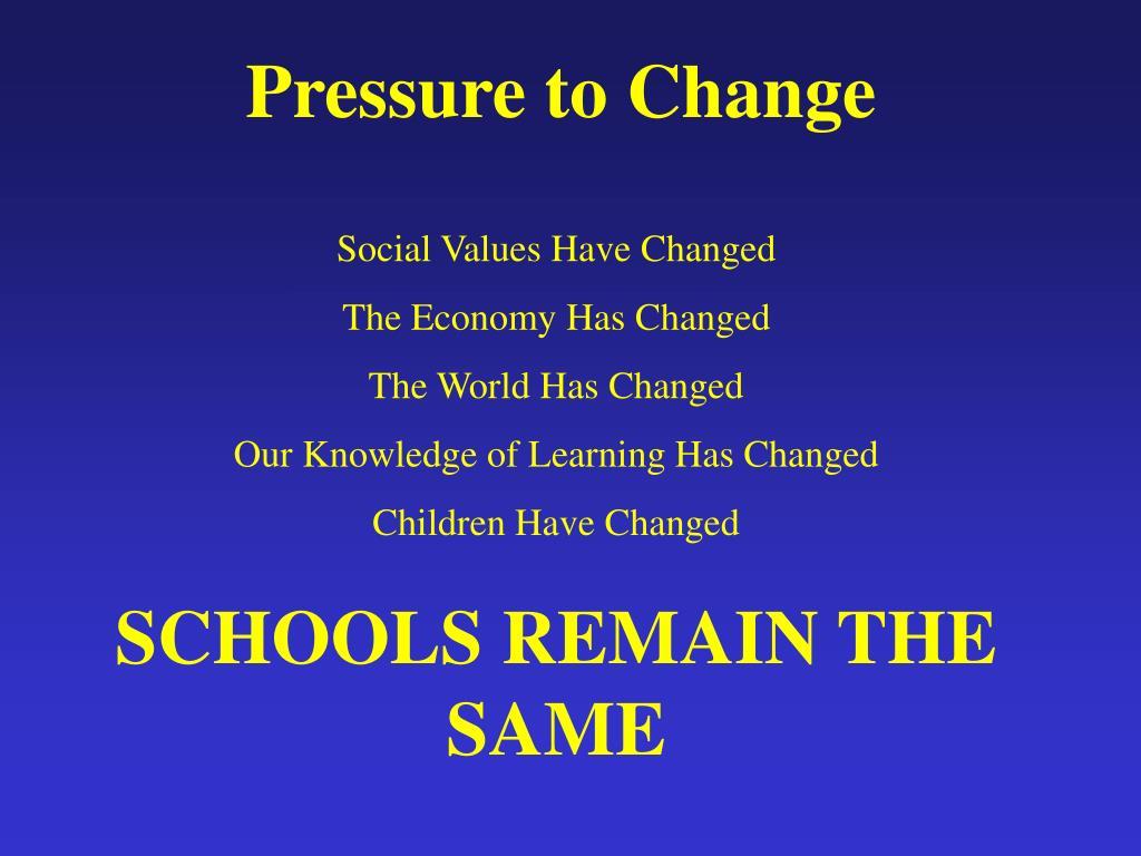 Pressure to Change