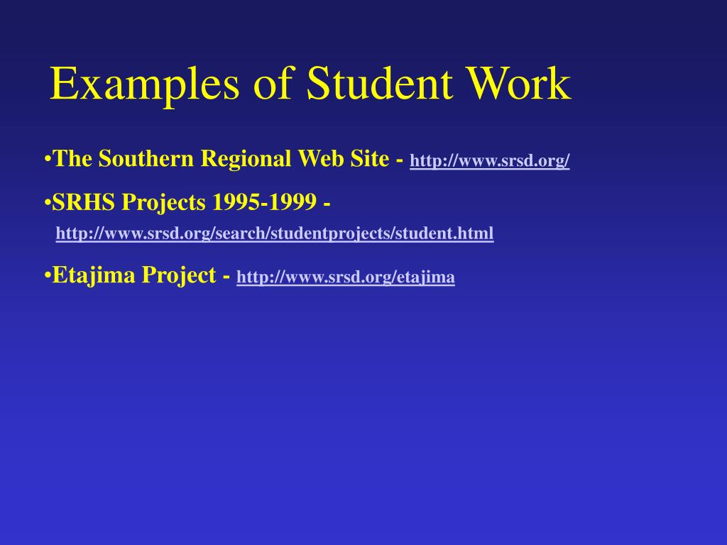 Examples of Student Work