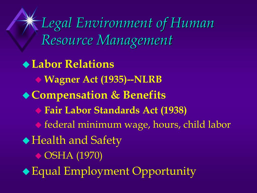 legal safety and regulatory requirements and their effect on the human resource process This paper will discuss the effects of legal, safety, and regulatory requirements have on the hrm process laws and regulatory requirements are currently in place to standardize and promote workplace safety.