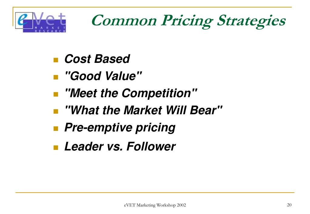 Common Pricing Strategies