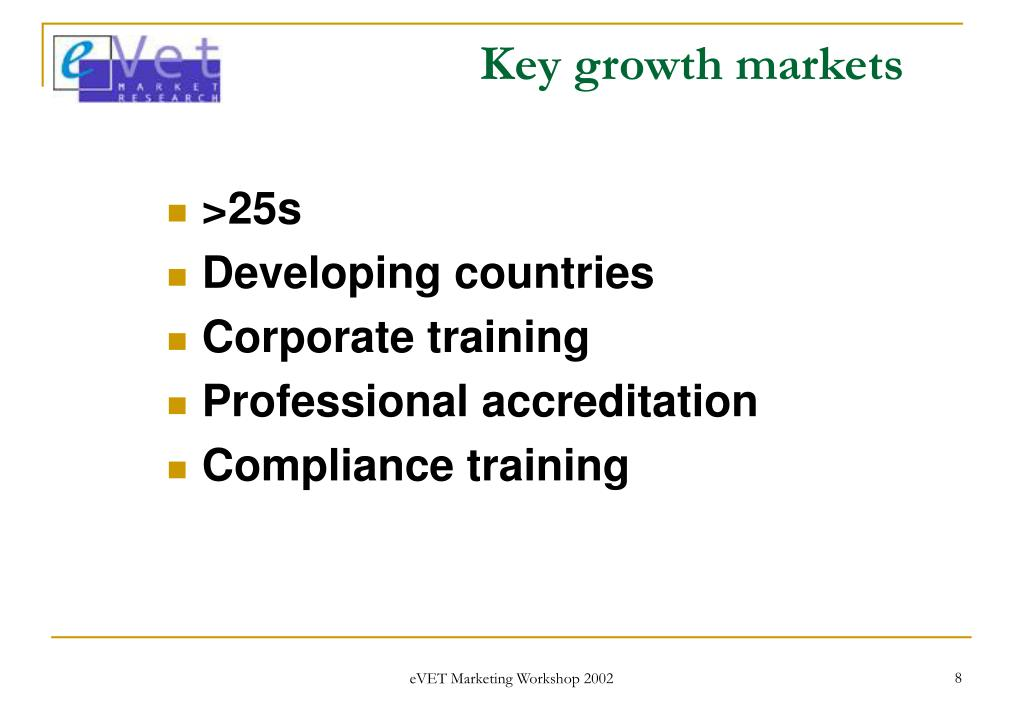 Key growth markets