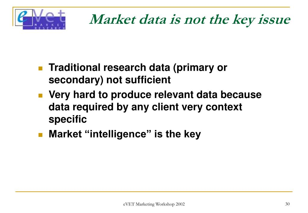 Market data is not the key issue