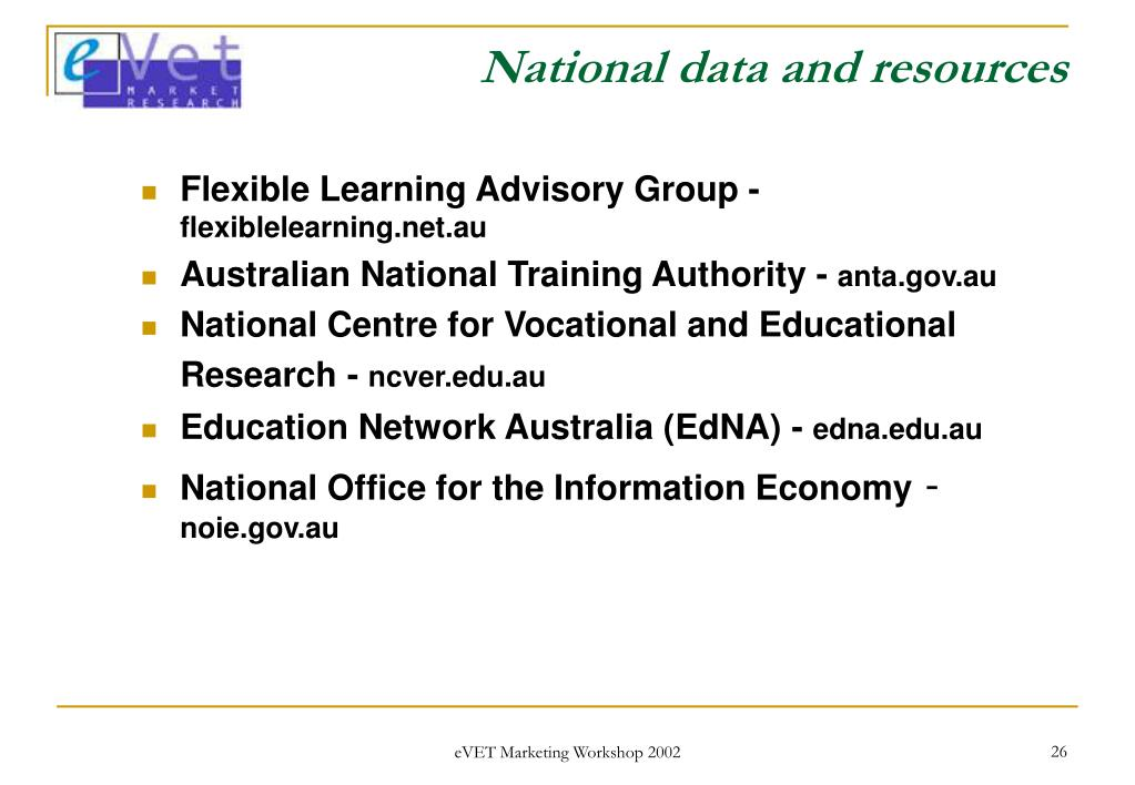 National data and resources