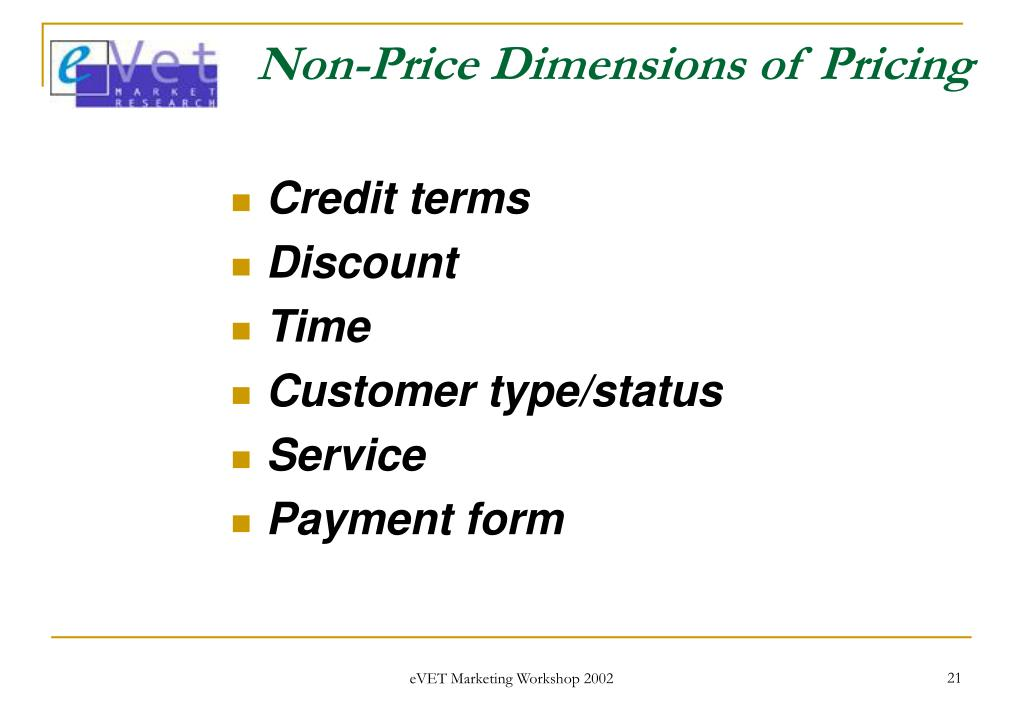 Non-Price Dimensions of Pricing