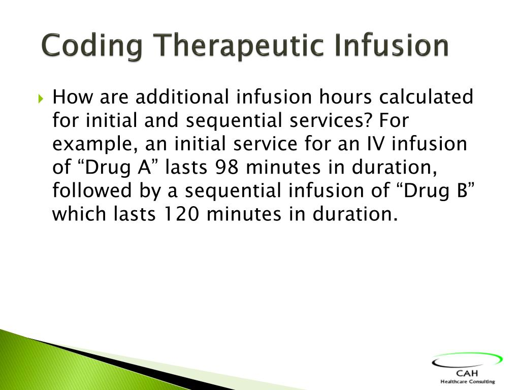 Coding Therapeutic Infusion
