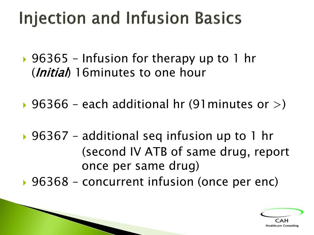Injection and Infusion