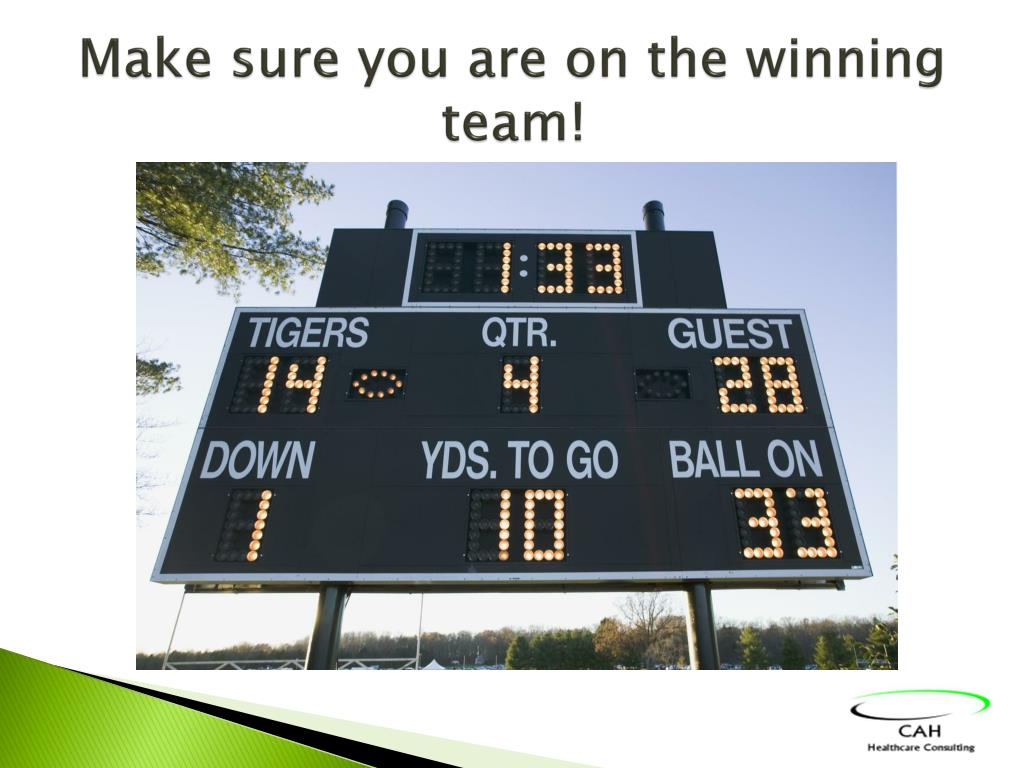 Make sure you are on the winning team!
