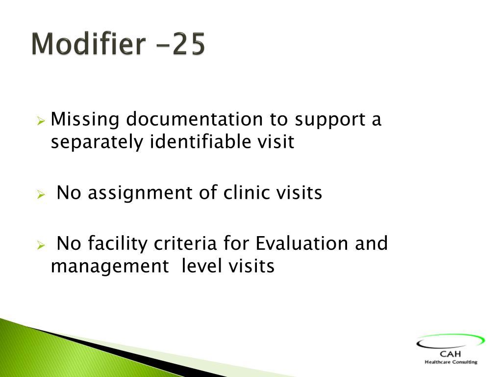 Modifier -25