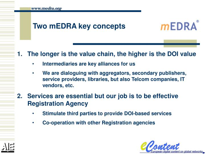 Two medra key concepts