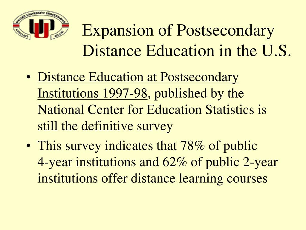 Expansion of Postsecondary Distance Education in the U.S.
