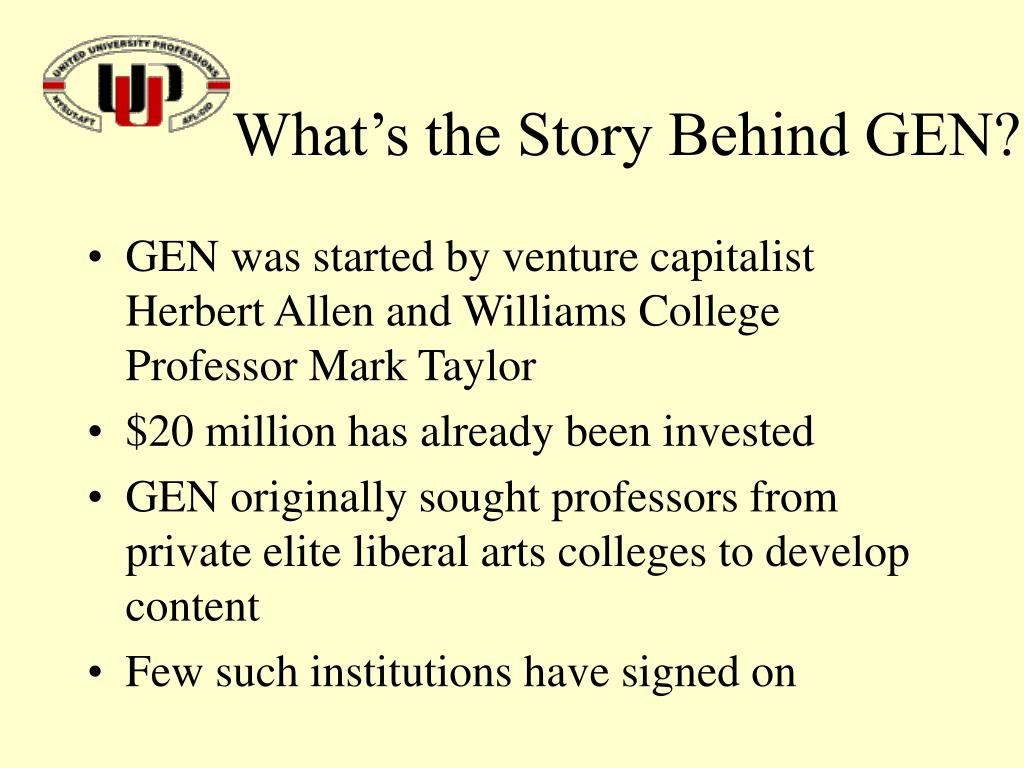 What's the Story Behind GEN?