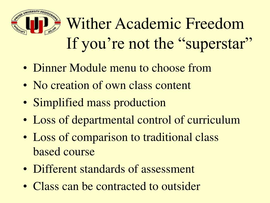 Wither Academic Freedom
