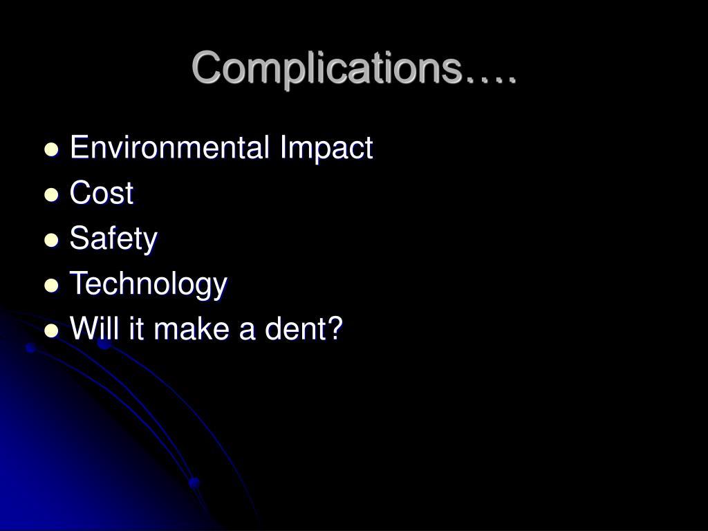 Complications….