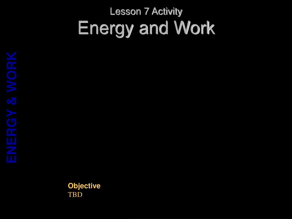 Lesson 7 Activity