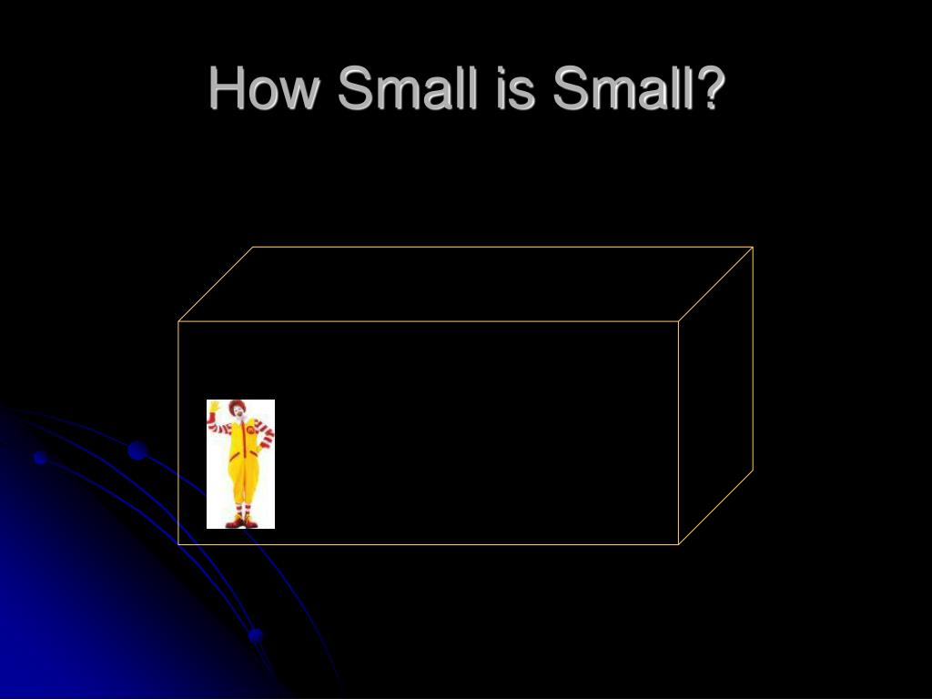 How Small is Small?
