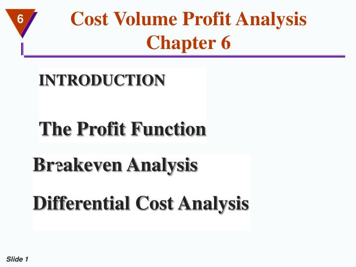 Cost volume profit analysis chapter 6 l.jpg