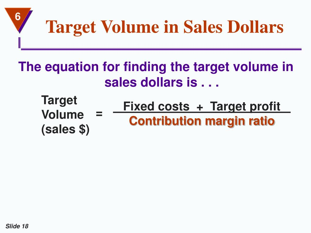 Target Volume in Sales Dollars