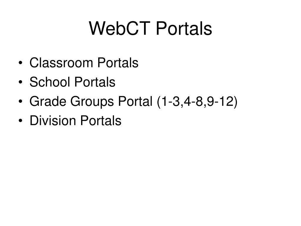 WebCT Portals