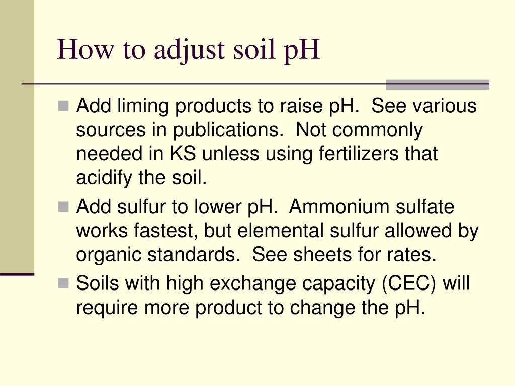 How to adjust soil pH