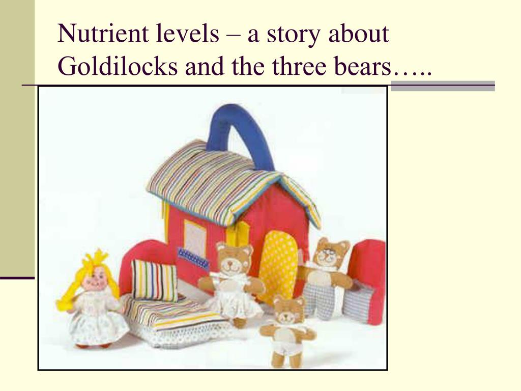 Nutrient levels – a story about Goldilocks and the three bears…..