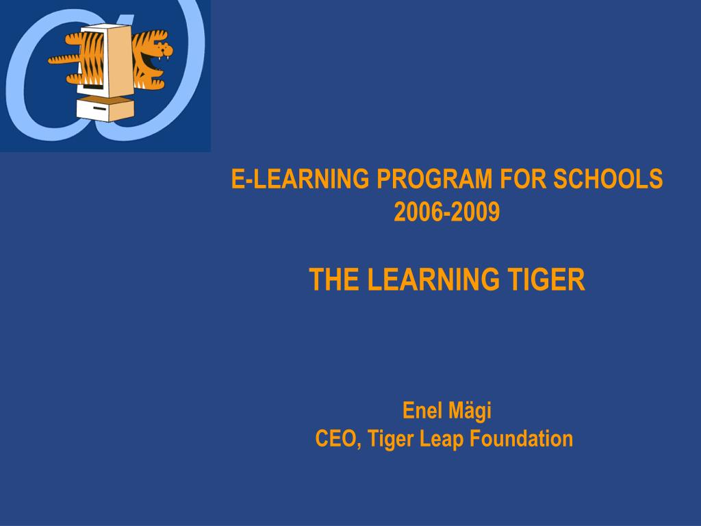 E-LEARNING PROGRAM FOR SCHOOLS