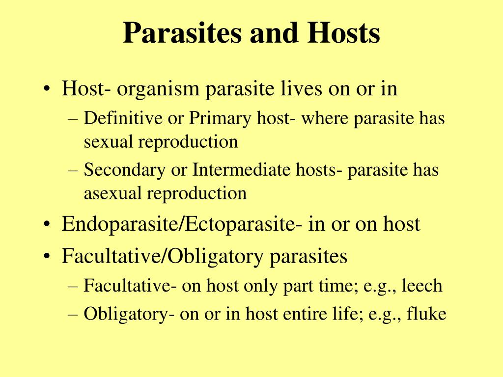 Parasites and Hosts