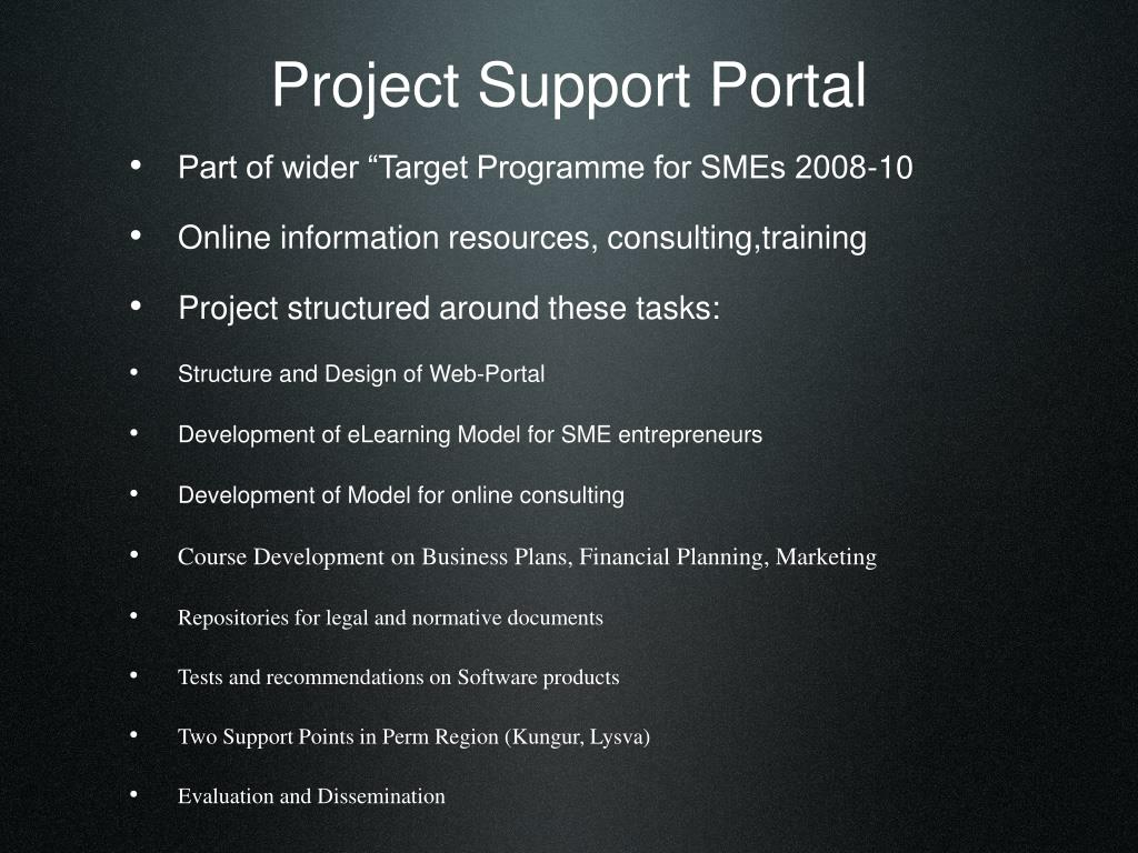 Project Support Portal