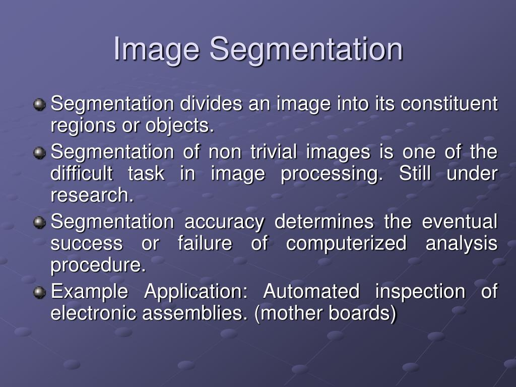 image segmentation In image segmentation, our goal is to classify the different objects in the image, and identify their boundaries source: mask r-cnn paper can cnns help us with such.