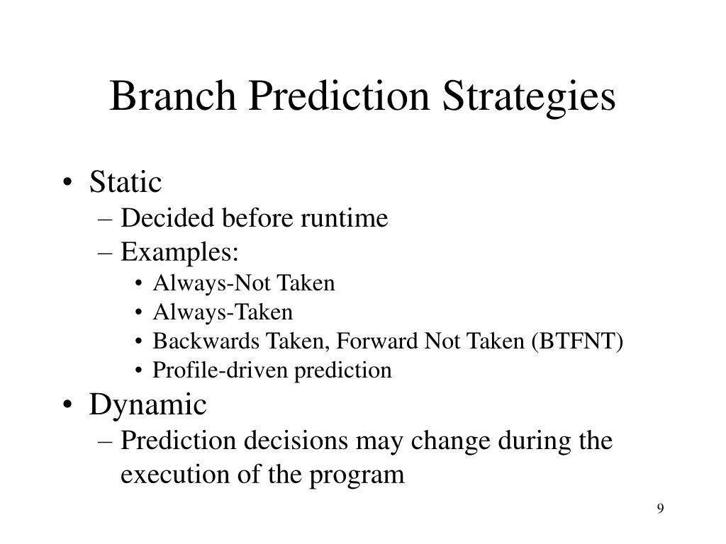 Branch Prediction Strategies