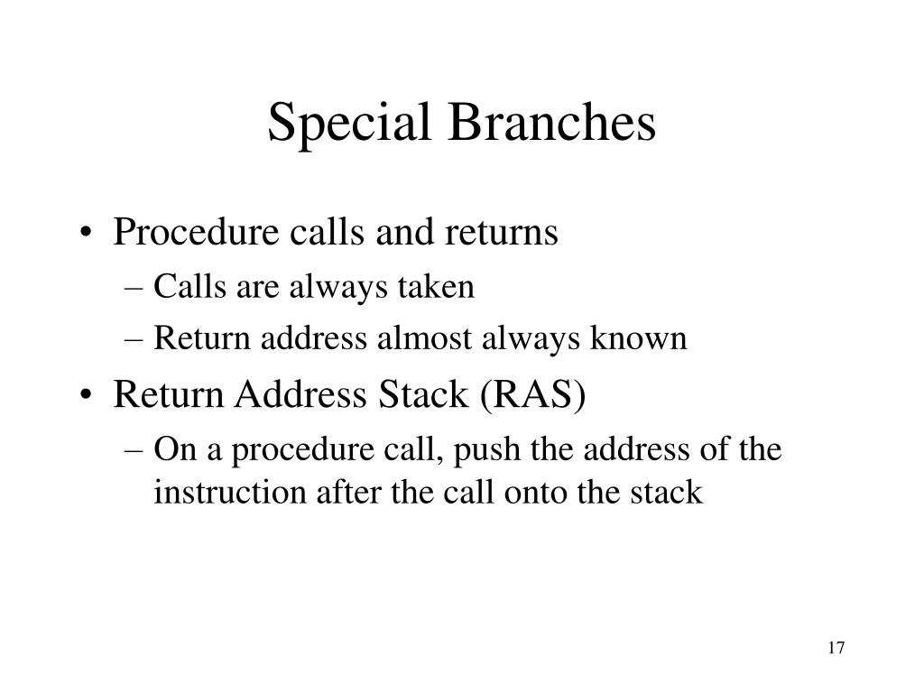 Special Branches