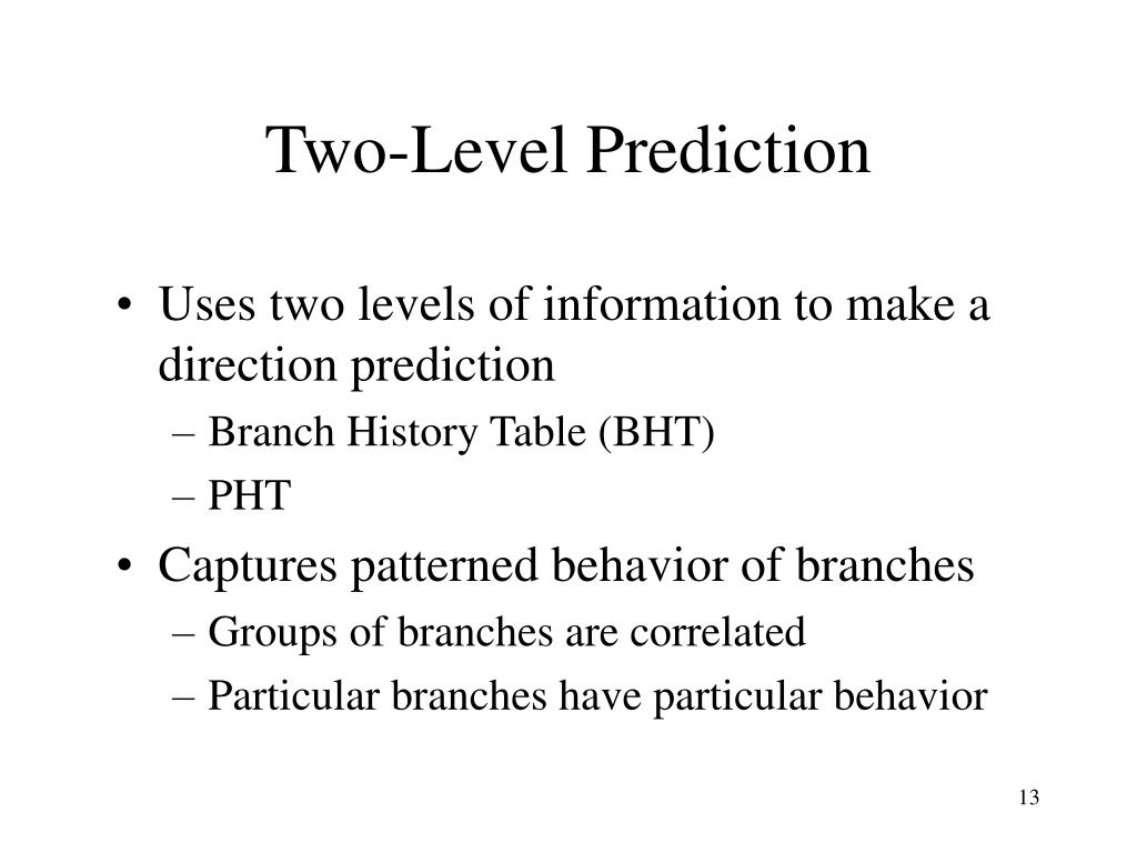 Two-Level Prediction