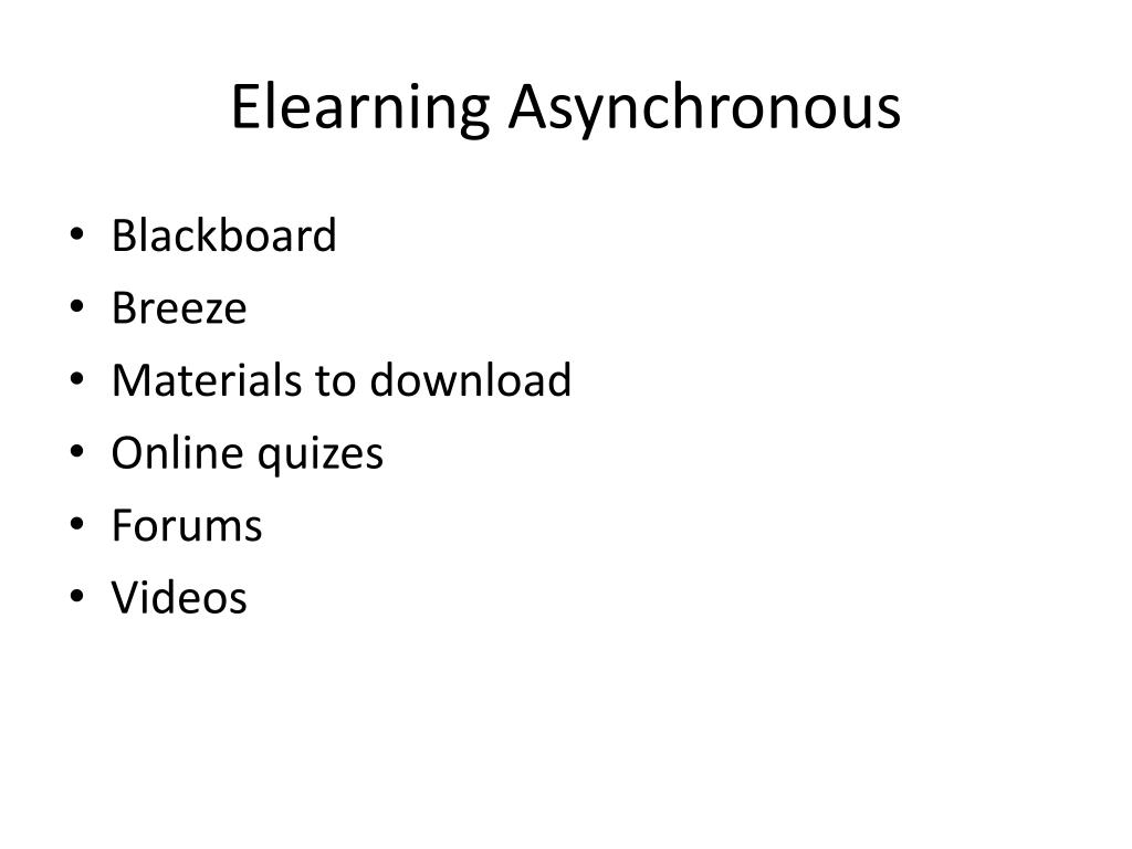 Elearning Asynchronous