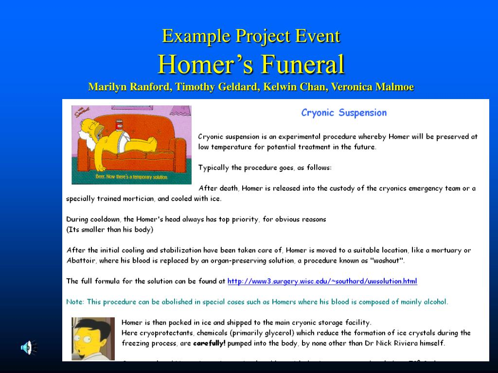 Example Project Event