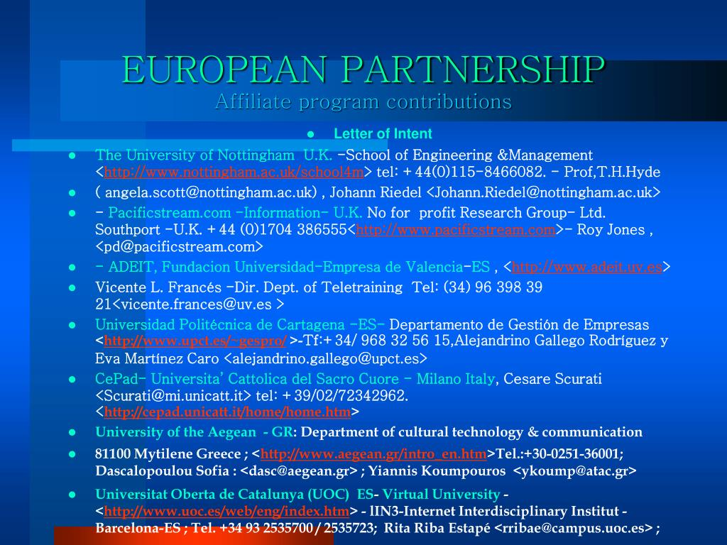 EUROPEAN PARTNERSHIP