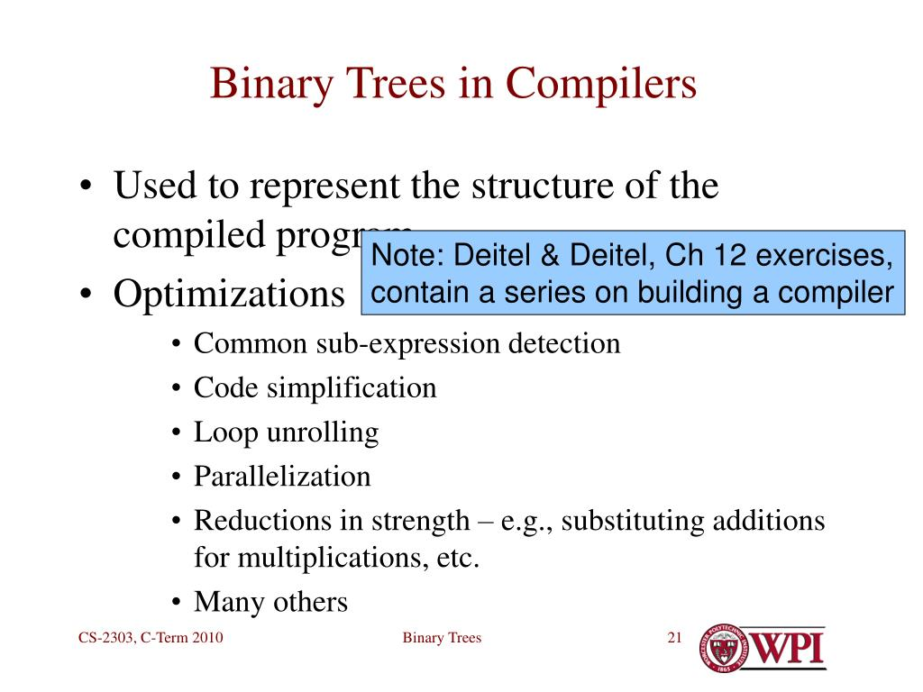 Binary Trees in Compilers