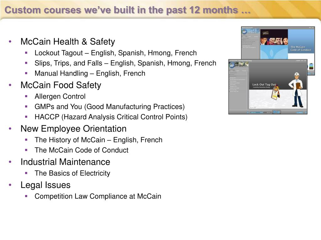 Custom courses we've built in the past 12 months …