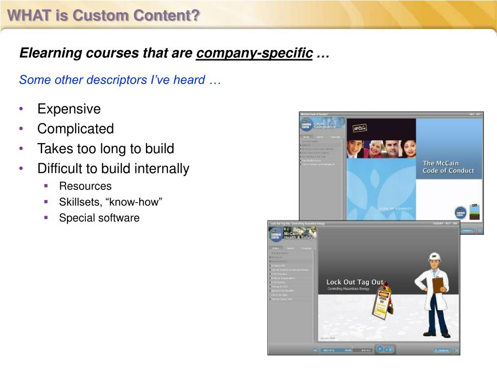 WHAT is Custom Content?