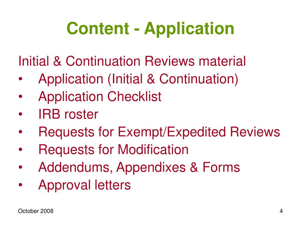 Content - Application