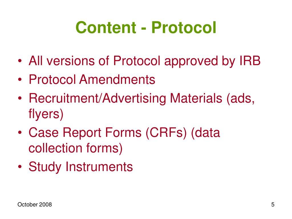 Content - Protocol