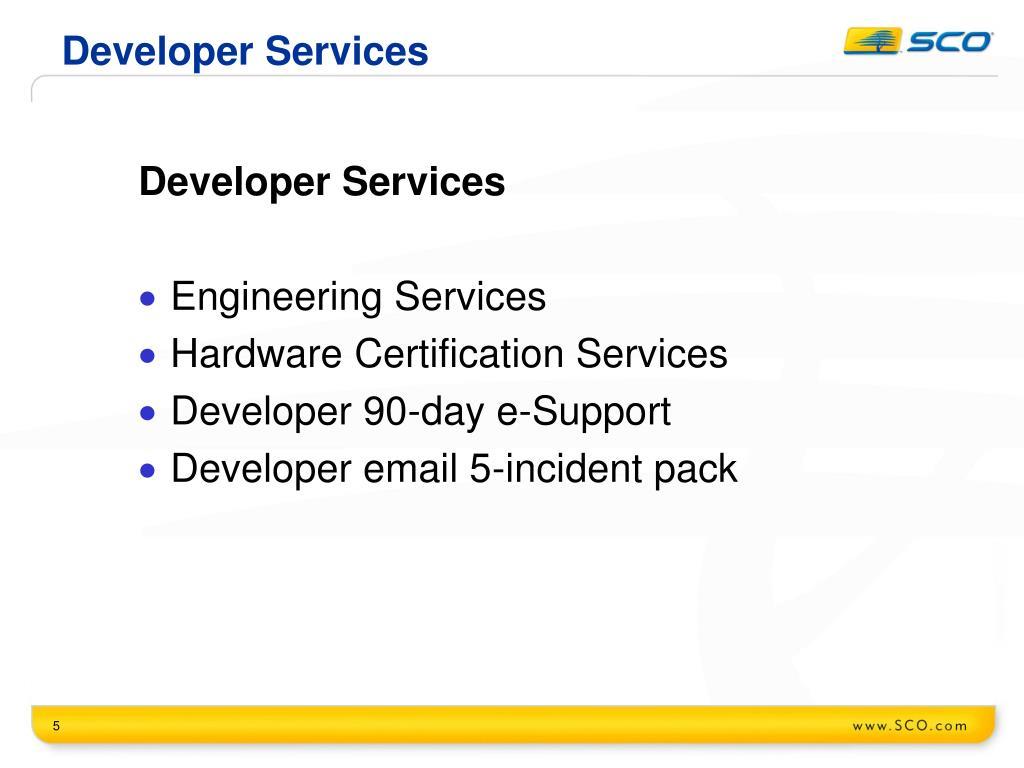 Developer Services