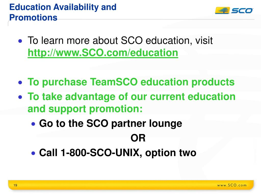 Education Availability and Promotions