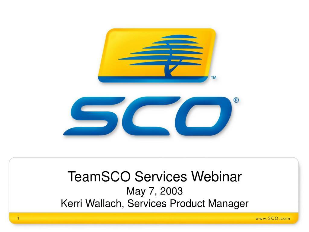 TeamSCO Services Webinar