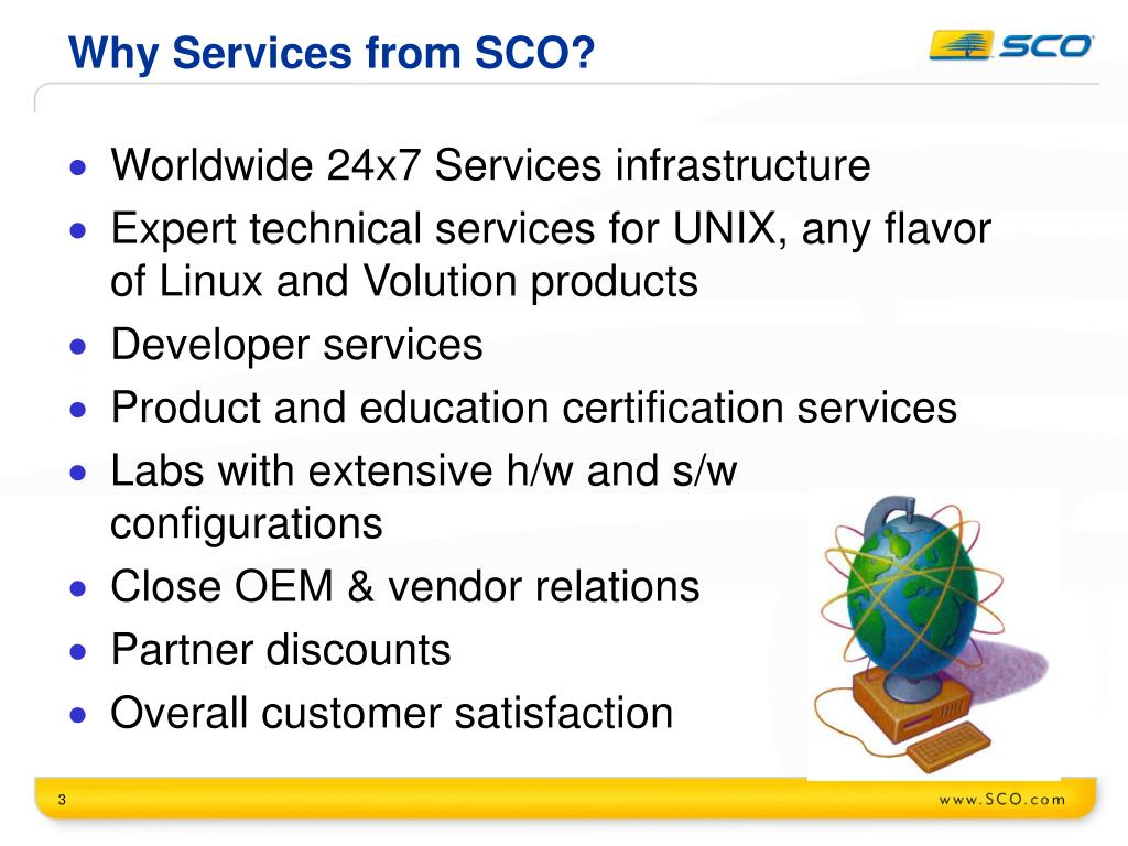 Why Services from SCO?