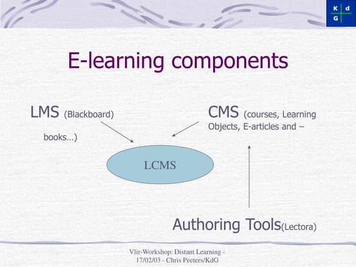 E learning components